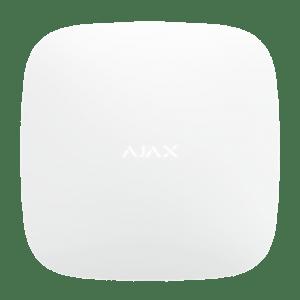 Ajax Hub 2 Plus keskusyksikkö toimii koko hälytysjärjestelmän keskuksena.