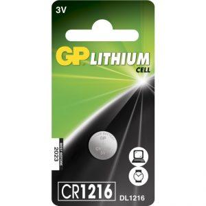 CR1216 Lithium nappiparisto 3V