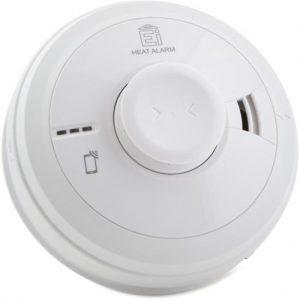 EI3000 sarjan optinen palovaroitin, valkoinen. Voidaan ketjuttaa kaapeloimalla tai langattomasti.