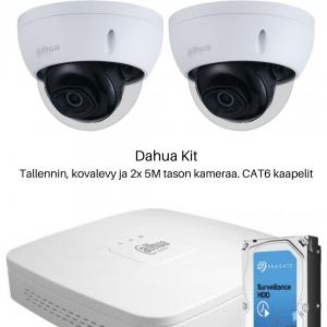 Dahua valvontakamerapaketti kahdella tai neljällä 5M tason kameralla