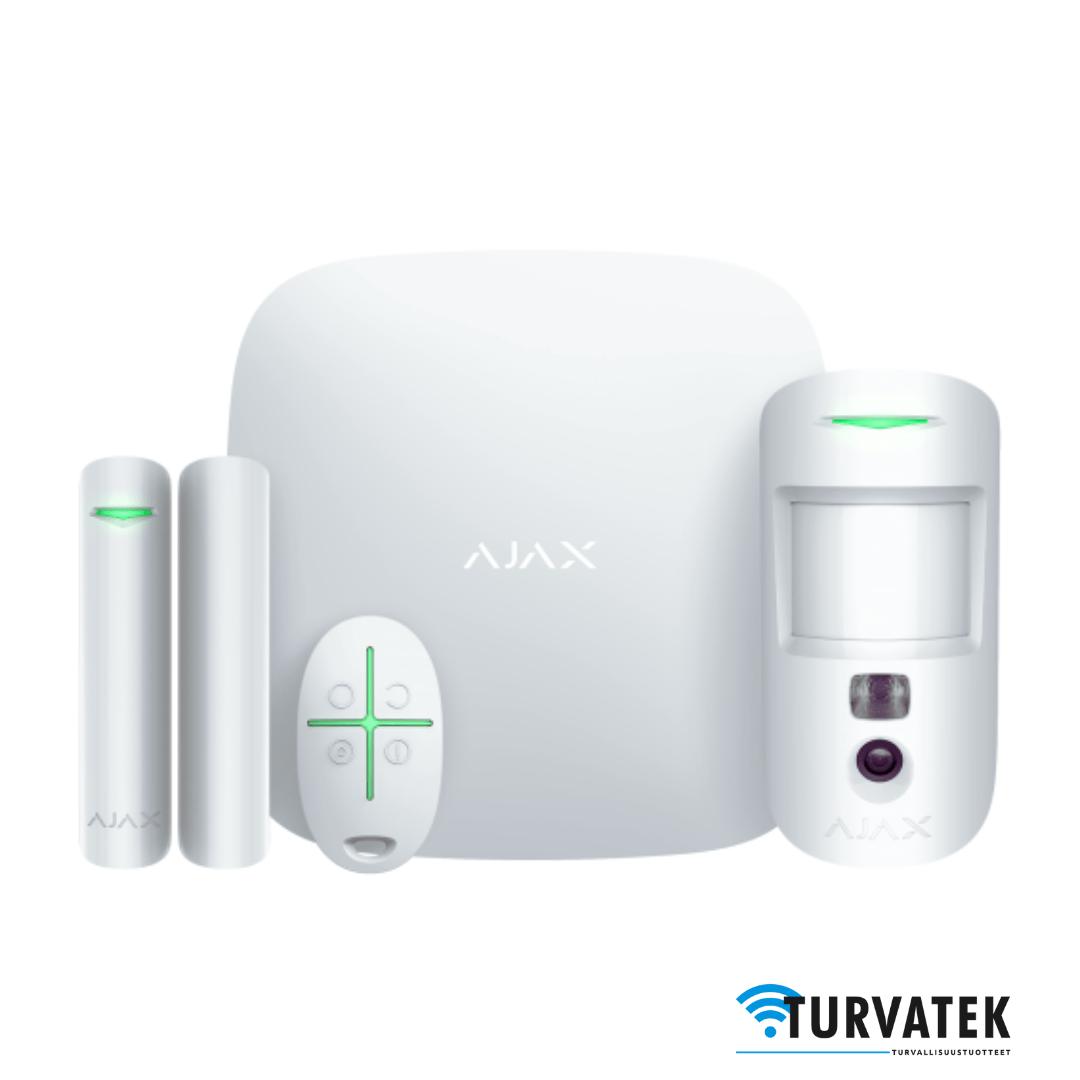 Murtohälytin langaton turvajärjestelmä kamerailmaisin Ajax Hub2Plus aloituspaketti Ajax Hub2 Plus StarterKit